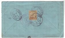 1924 Simla India Registered 6 Annas Cover to USA