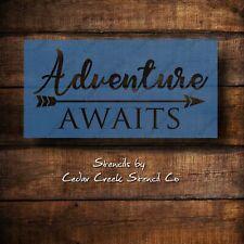 Adventure awaits craft stencil