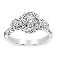 Vintage 14k White Gold Fn 1.93 Ct Round Diamond Art Deco Wedding Engagement Ring