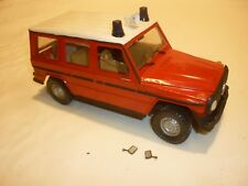 esci built plastic kit of a Mercedes Benz G WAGON, Fire truck,