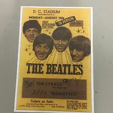 BEATLES - CONCERT POSTER D.C. STADIUM WASHINGTON U.S.A. MONDAY 15TH AUGUST (A3)