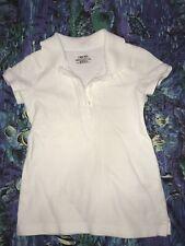Cherokee Footwear Girls' White Uniform Short Sleeve Polo Xs/Tp (4/5) Ultimate Sc