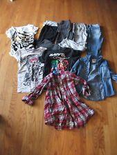 GIRLS  PANTS, SHIRTS, CAPRIS,  TOPS CLOTHES SIZE 7-10 & S, M, LG.  1X999