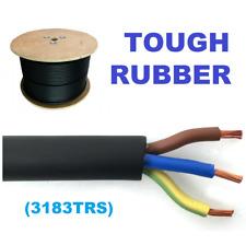 25 m mètre 3183TRS noir 1.5 mm 3 Core Dur Caoutchouc Souple Secteur Câble 240 V