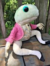Vintage BEATRIX POTTER Peter Rabbit JEREMY FISHER Frog EDEN Plush Character ❤️j8
