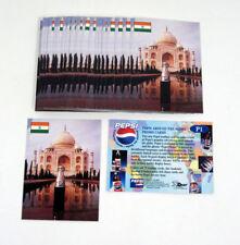 Lot of (25) 2000 Dart Pepsi Around the Globe Promo Card (P1) Taj Mahal Nm/Mt