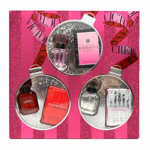 Victoria's Secret Gift Set Perfume 3 Piece Fragrance .25 Oz Eau De Parfum New Vs