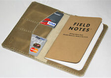 Handmade Field Notes Cover Wallet Blonde CrazyHorse Leather