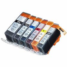 Compatible PGI-520BK CLI-521 6 Set of Inks 2932B001 2933B010 2937B001 for MP980