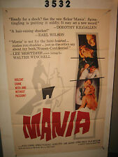 Mania Original 1sh Movie Poster '61 Peter Cushing