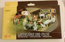 Ho scale Faller Item & 180439 Garden Chairs and Tables