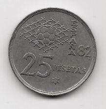 World Coins - Spain 25 Pesetas 1980 Commemorative Coin FIFA 82 KM# 818