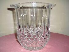 Longchamp Crystal Ice Bucket Wine Cooler Gold   - Cristal d'Arque