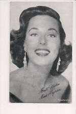 Vintage Card Faux Signature Bess Myerson American politician, model & TV Actress