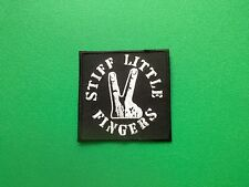 HEAVY METAL PUNK ROCK MUSIC SEW ON / IRON ON PATCH:- STIFF LITTLE FINGERS (b)