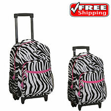 Backpack With Wheels For Girls Rolling School Travel Bag Kids Wheeled Luggage 17