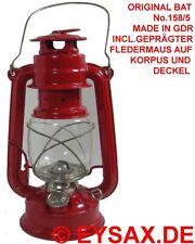 Original DDR BAT Petroleumlampe Sturmlaterne No158/5 incl.Fledermaus Restbestand