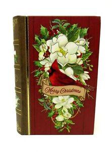 Punch Studio Gold Foil Nesting Book Box Christmas Cardinal Bird 62198 Small