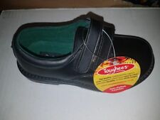 Toughees WILLIAM Boys Leather Double Touch Fasten School Shoes Bk infant uk 10