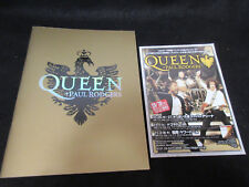 Queen Paul Rodgers 2005 Japan Tour Book Concert Program w Promo Flyer Brian May