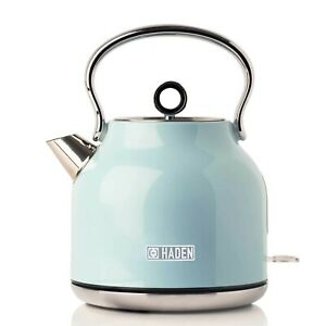 Haden 192752 Heritage Kettle 1.7L 3000W Turquoise 2 Year Guarantee