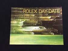 ROLEX DAY-DATE BOOKLET IN ENGLISH 1992 FREE SHIPPING