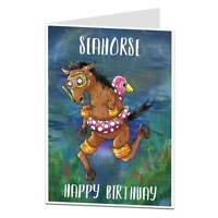 Funny Birthday Card Quirky Seahorse Card For Her Women Girls Daughter Sister