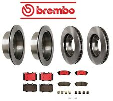 For LX470 Land Cruiser Front Rear Full Brake Kit Disc Rotors Ceramic Pads Brembo