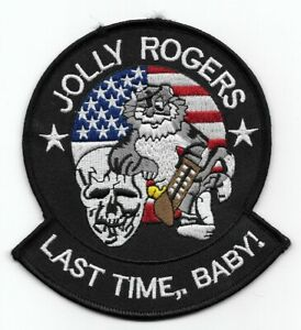 """F-14 Tomcat """"Jolly Rogers - Last Time, Baby!"""" patch"""