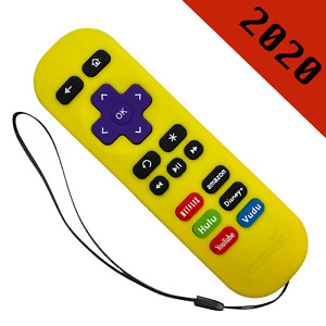 Replacement Remote for ROKU 1/2/4 Express+/Premiere+/Ultra Yellow-6 Shortcut
