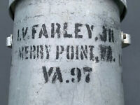 Oyster Can Shipping Container VA 97 Merry Point Virginia I V Farley Jr