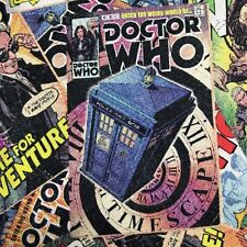 Fabric Doctor Who Comic Book Toss 100% Cotton Quilting Fabric by the Yard