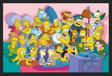 """The Simpsons Poster """"Couch Group"""" New In Plastic Never Opened Great Condition."""