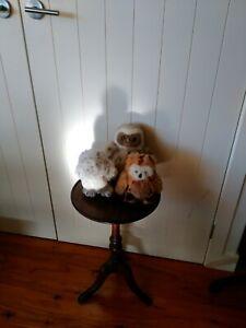 Dakin x 2 and Gund x 1 plush owls - vintage