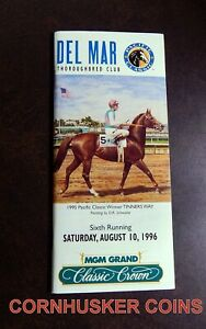 1996 DEL MAR PACIFIC CLASSIC PROGRAM FEATURING CIGAR  PLUS 10 DFR CIGAR CARDS