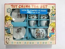Toy China Tea Set 3816 Made in Japan Planting Flowers Vintage Childrens Doll