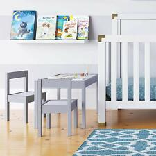 Kids Table Chairs Set Gray Children Bedroom Furniture Daycare School Church Home