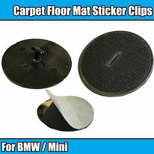 2x Floor Mat Trim Clips for BMW Mini Car Carpet Fixings Adheasive 07149166609