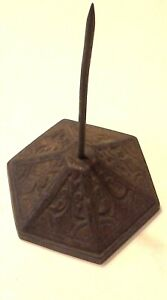 Vintage Victorian Cast Iron Desk Bill/Receipt Holder Paper spike