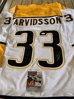 Viktor Arvidsson Autographed/Signed Jersey JSA COA Nashville Predators