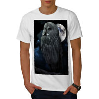 Wellcoda Night Owl Moon Sky Mens T-shirt, Darkness Graphic Design Printed Tee