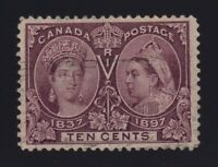 Canada Sc #57 (1897) 10c brown violet Diamond Jubilee VF Used Light Cancel