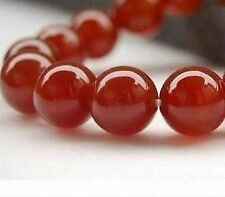 """AAA 10mm Perfect Red GEM Ruby Round Loose Beads Gemstone 15"""" +"""