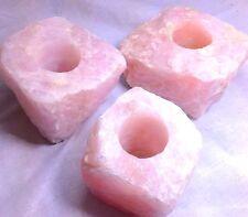 Rose Quartz Candle Holder - mineral decor or gift!