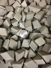 """New listing Ceramic Tumbling Media 15 pounds of 5/8"""" X 1"""" Angle Cut Triangles"""