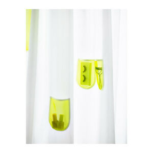Ikea Sprutt Shower Curtain mesh pouches pockets 180 x 180cm cut to size NEW