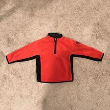 GAP Kids Boys 1/4 zip Fleece Pullover Orange Long Sleeve Chest Pocket XS (4-5)