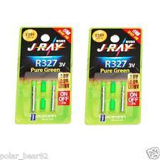 4pcs J-RAY R327 Green LED 3V PIN Type Lithium Battery to Night Fishing 2pack