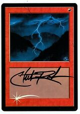 ***1x FOIL Textless Lightning Bolt Urza's Saga Test Print*** MTG Signed Rush
