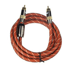 Premium 2M Gold Plated RCA Plug Coaxial Bass Audio Cable Braided Sleeve Tide New